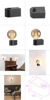 1004738 SLV by Marbel FITU CUBE WL светильник настенный для лампы LED E27 20Вт макс., черный
