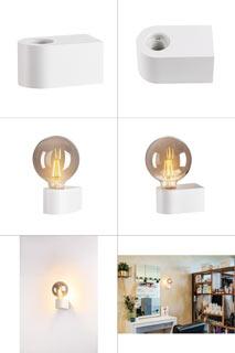 1004739 SLV by Marbel FITU CUBE WL светильник настенный для лампы LED E27 20Вт макс., белый