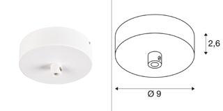 1004745 SLV by Marbel FITU, основание потолочное накладное, белый