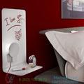 Sketch Zava H61cm, L40cm настенный светильник Skech_L_blanc_9010_red_rayon